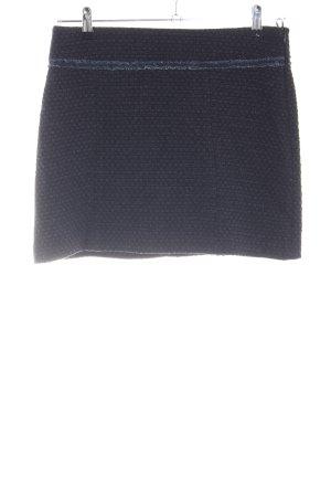 Esprit Tweedowa spódnica czarny-niebieski Siateczkowy wzór W stylu biznesowym
