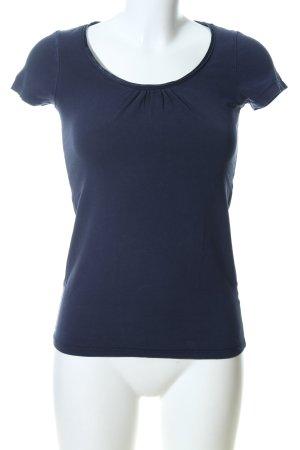 Esprit Camisa de cuello barco azul look casual