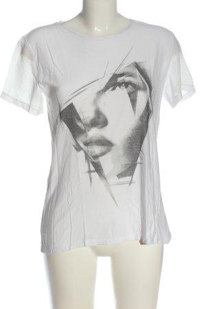 Esprit Boothalsshirt wit-lichtgrijs prints met een thema casual uitstraling