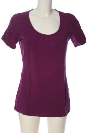 Esprit Koszulka z dekoltem w łódkę fiolet W stylu casual