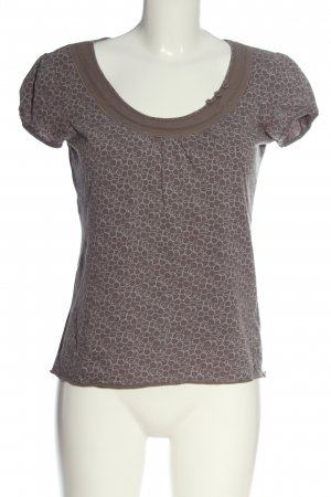 Esprit Boatneck Shirt brown-white allover print casual look