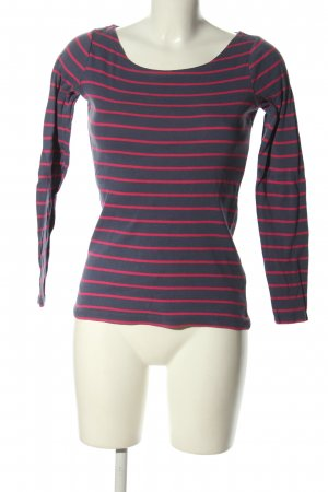 Esprit Boatneck Shirt blue-pink striped pattern casual look