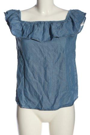 Esprit Carmen blouse blauw casual uitstraling