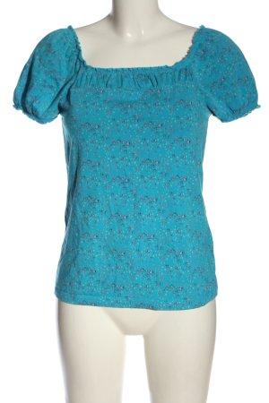 Esprit T-Shirt blau-pink Allover-Druck Casual-Look