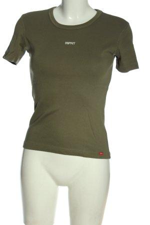 Esprit U-Boot-Shirt khaki Schriftzug gedruckt Casual-Look