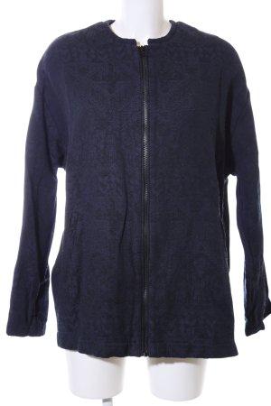 Esprit Übergangsjacke blau-schwarz abstraktes Muster Casual-Look