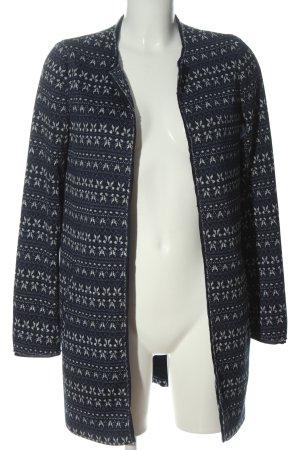 Esprit Kurzmantel schwarz-weiß grafisches Muster Casual-Look