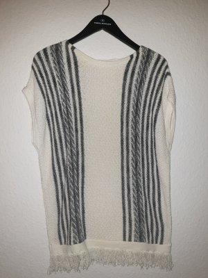 Esprit Fringed Vest white-black