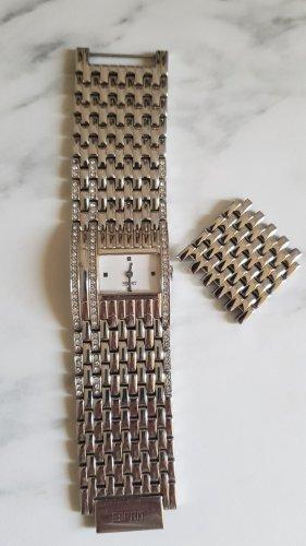 Esprit Horloge met metalen riempje zilver