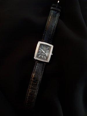 Esprit Orologio con cinturino di pelle nero-argento