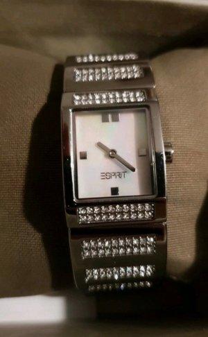 Esprit Reloj analógico blanco-color plata