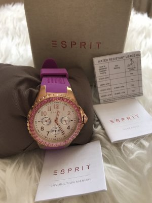 Esprit Montre analogue lilas