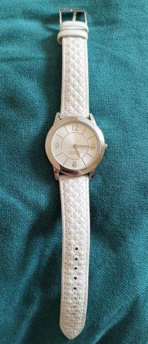 Esprit Uhr, weißes Lederband, stainless steel back