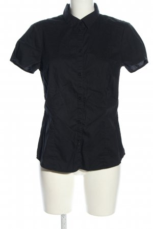Esprit Urban Casual Kurzarm-Bluse schwarz Business-Look