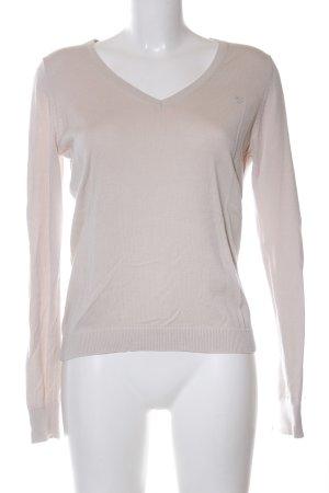 Esprit V-Ausschnitt-Pullover creme Casual-Look