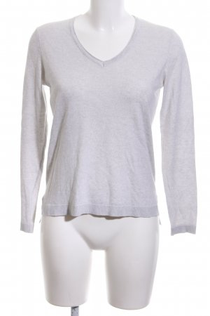 Esprit V-Ausschnitt-Pullover hellgrau meliert Casual-Look