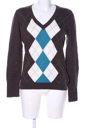 Esprit V-Ausschnitt-Pullover grafisches Muster Casual-Look