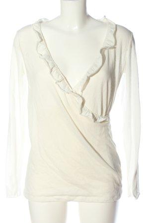 Esprit V-Ausschnitt-Pullover weiß Casual-Look