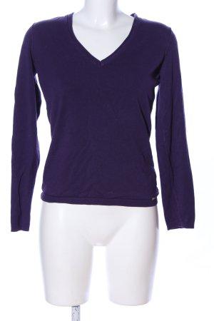 Esprit V-Ausschnitt-Pullover lila Casual-Look