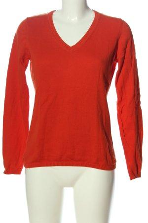 Esprit V-Ausschnitt-Pullover rot Casual-Look