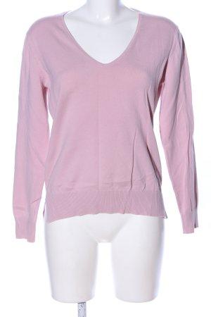 Esprit V-Ausschnitt-Pullover pink Casual-Look