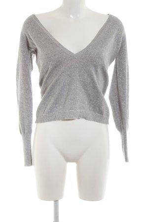 Esprit V-Ausschnitt-Pullover hellgrau-silberfarben Elegant