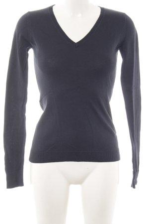 Esprit V-Ausschnitt-Pullover hellgrau Casual-Look
