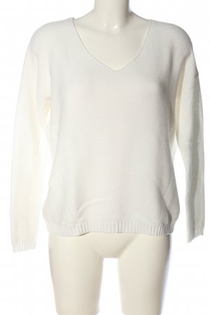 Esprit V-Neck Sweater white casual look