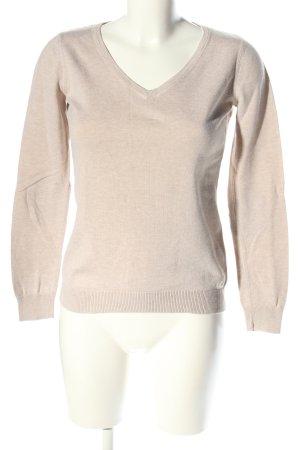 Esprit V-Ausschnitt-Pullover wollweiß Casual-Look