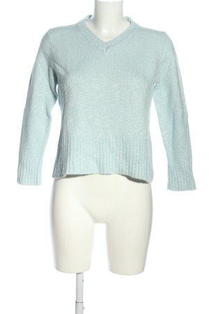 Esprit V-Ausschnitt-Pullover blau meliert Casual-Look