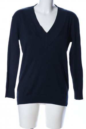 Esprit V-Ausschnitt-Pullover schwarz Business-Look