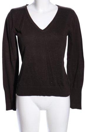 Esprit V-Ausschnitt-Pullover braun Casual-Look
