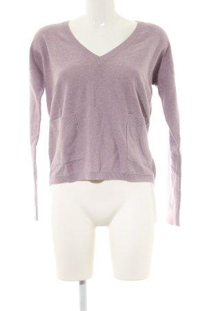 Esprit V-Ausschnitt-Pullover pink meliert Casual-Look