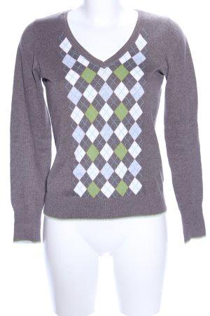 Esprit V Ausschnitt Pullover grafisches Muster Casual Look