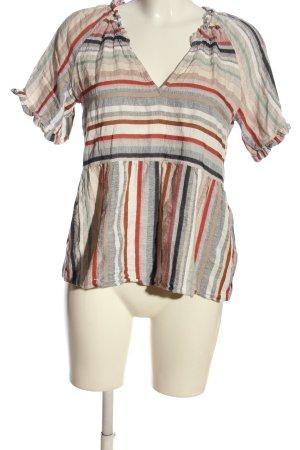 Esprit V-Ausschnitt-Shirt Streifenmuster Casual-Look