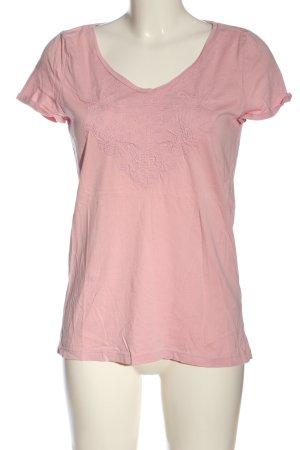 Esprit Camisa con cuello V rosa look casual