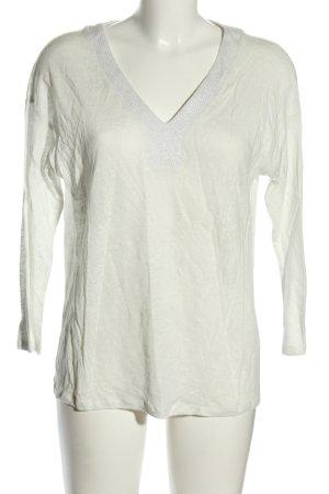 Esprit Koszulka z dekoltem w kształcie litery V biały W stylu casual
