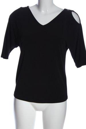Esprit V-Ausschnitt-Shirt schwarz Elegant