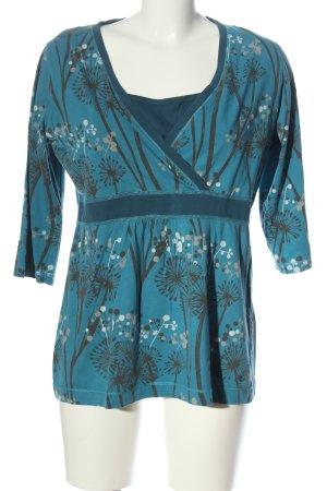 Esprit V-hals shirt volledige print casual uitstraling