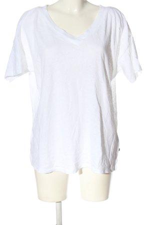 Esprit T-shirt col en V blanc style décontracté