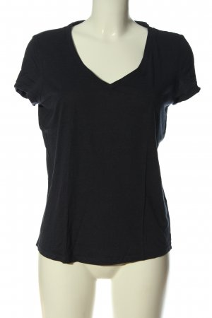 Esprit Koszulka z dekoltem w kształcie litery V czarny Elegancki