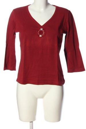 Esprit V-Ausschnitt-Shirt rot Casual-Look