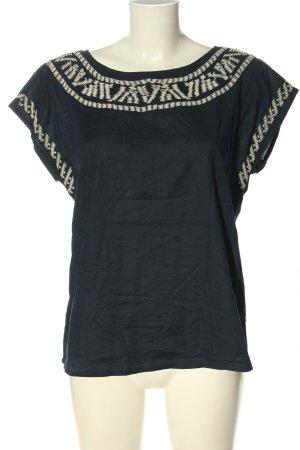 Esprit V-Ausschnitt-Shirt blau-wollweiß Elegant