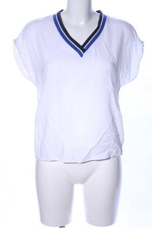 Esprit V-Ausschnitt-Shirt Streifenmuster Business-Look