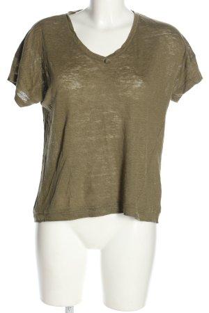 Esprit V-Ausschnitt-Shirt khaki Casual-Look