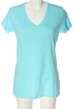 Esprit V-Ausschnitt-Shirt blau Casual-Look