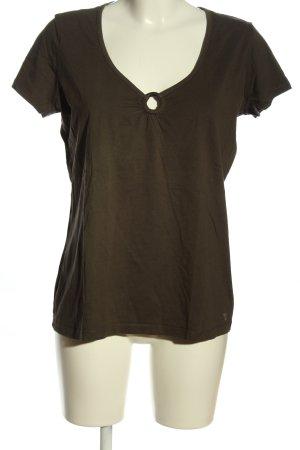 Esprit V-Ausschnitt-Shirt braun Casual-Look
