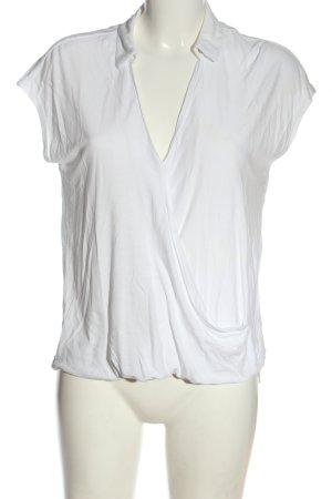 Esprit V-Ausschnitt-Shirt weiß Casual-Look