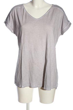 Esprit V-Ausschnitt-Shirt hellgrau Casual-Look
