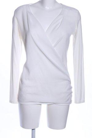 Esprit Maglia con scollo a V bianco stile professionale